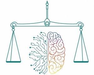 Weegschaal rondom linker en rechter hersenhelft