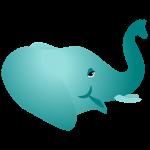 Een olifantenkop. De olifant geeft het onderbewustzijn weer.