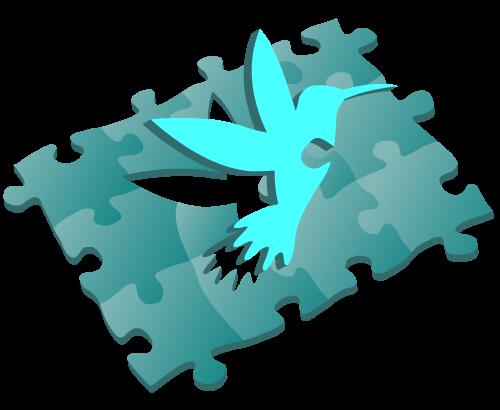 Kolibri als puzzel